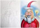 超强老爸为孩子的画涂上颜色,     涂鸦变名画!