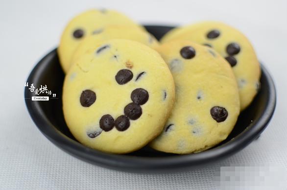 最近学做的新品——巧克力豆饼干