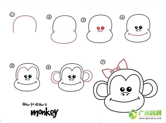 四 如何画猴子简笔画