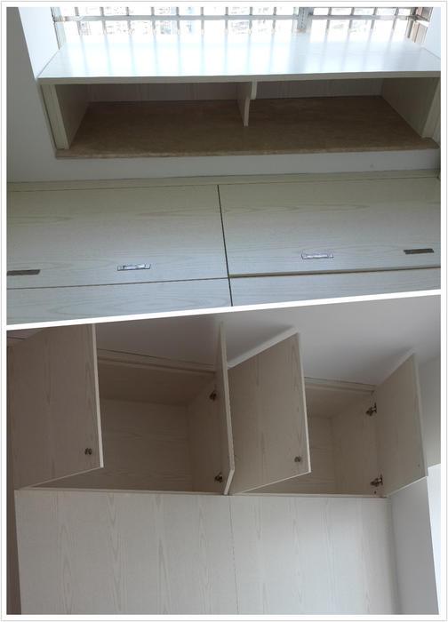 主卧飘窗及面向主卧开的顶柜