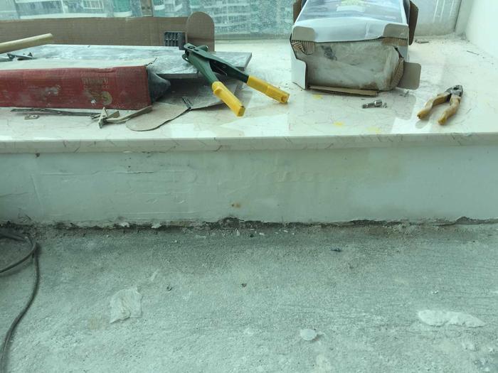 装修换飘窗大理石导致渗漏.JPG
