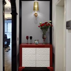 98㎡精致摩登风,让空间后退有了玄关柜,背后再多个洗手台!