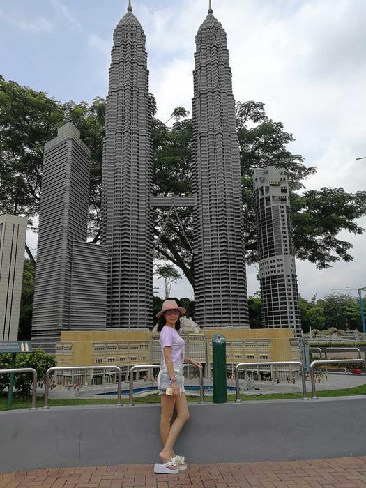 微型乐高双子塔