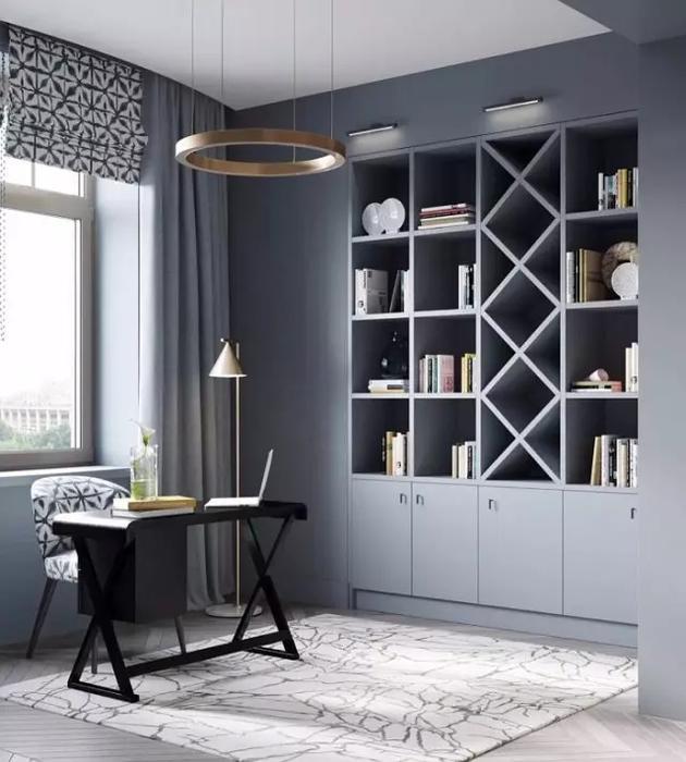2018年书房装修效果图,欣赏新房装修的流行趋势 .