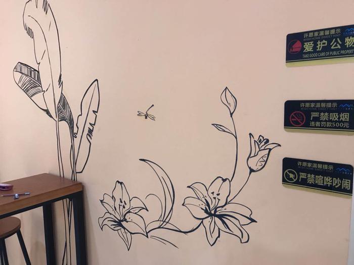 在妈网也已经有十几个年头,大家都知道我爱好广泛金融,收藏,运动。。。其实最爱的是美术设计类别,今年用了不少业余时间来搞搞我最喜欢的美术,墙绘是我的新一个爱好点 ,退休能开个美术工作室是我的小心愿,墙绘比纸上画难很多,大型构图,上色力度,不能修改,进度缓慢,给大家看看作品,欢迎大咖拍砖和指教啊