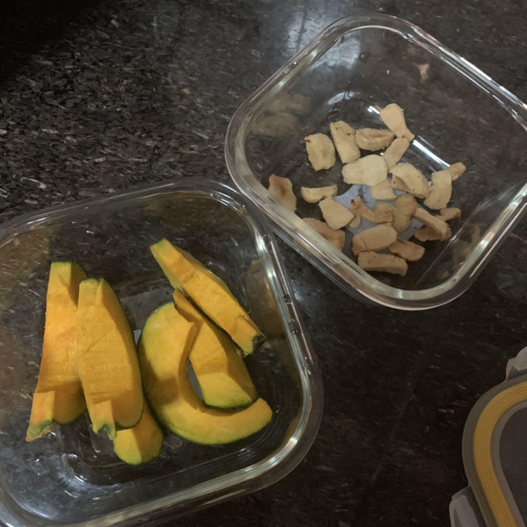 薯薯辅食添加日记:南瓜奶糕、红枣淮山糕