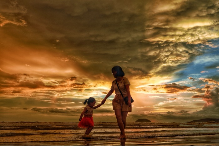 拖老携幼去看最美日落