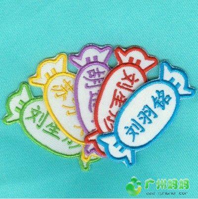 0团费,入幼儿园必备,环保漂亮的刺绣名字贴