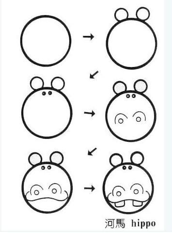 儿童简笔画集粹 等宝宝长大我就可以教他画画啦