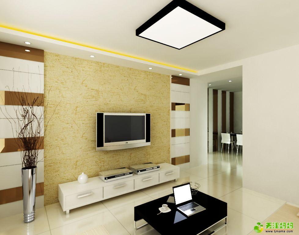 25kb - jpeg 简约 大气中式 电视背景墙装修效果图简约 大气客厅