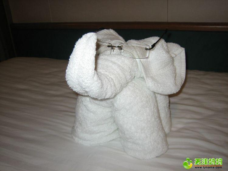 浴巾叠成的小动物_浴巾折叠小动物